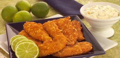 Iscas de frango empanado: opção de refeição fácil e rápida