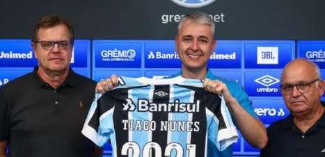 Tiago Nunes é apresentado e revela conversa com Renato Gaúcho