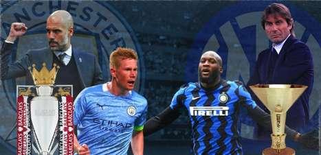 Veja as combinações que podem fazer de Manchester City e Inter campeões nacionais neste fim de semana