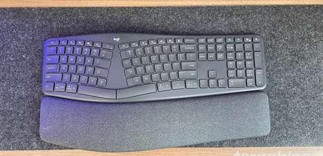 Teclado Bluetooth Logitech Ergo K860: espaçoso, mas confortável