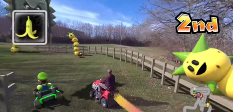 Cineasta cria Mario Kart da vida real usando drone e cortador de grama