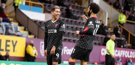 Com gol de Firmino, Liverpool derrota o Burnley pelo Inglês
