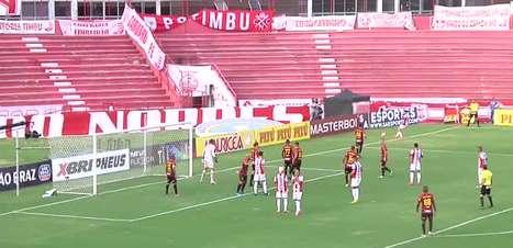 PERNAMBUCANO: Em cima da linha! Maidana salva gol do Náutico no primeiro tempo