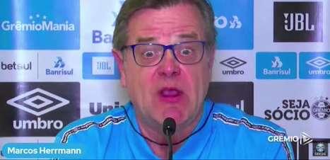 """GRÊMIO: Vice de Futebol, Marcos Herrmann minimiza ausência de Brenno devido a convocação pra seleção olímpica e afirma: """"Não estamos buscando nenhum goleiro"""""""