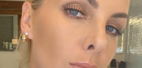 Ana Hickmann ensina make com brilho nos olhos e na boca