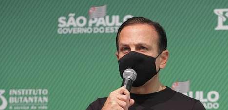"""Doria: Liberar uso de máscara é """"ato de irresponsabilidade"""""""