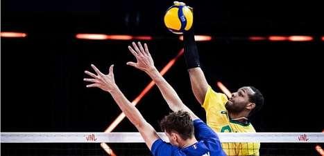Brasil perde invencibilidade e liderança da Liga das Nações com 3 a 0 para França