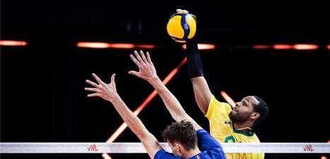 França vence por 3 sets a 0 e Brasil leva primeira derrota na Liga das Nações