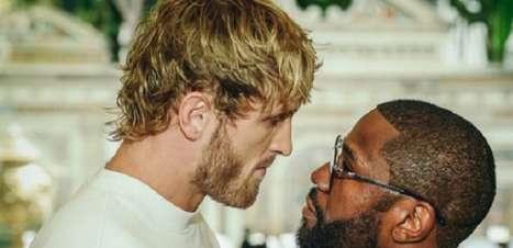 Vídeo: Mayweather e Logan Paul fazem encarada séria e clima esquenta para duelo de Boxe