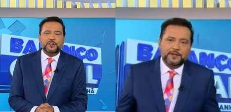 Geraldo Luís se emociona ao retornar à TV após Covid-19