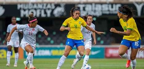 Em seu último teste antes da Olimpíada, Seleção feminina empata sem gols com o Canadá
