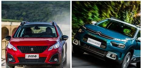 Peugeot 2008 ou Citroën C4 Cactus: qual SUV francês leva a melhor?