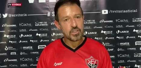 """VITÓRIA: Ramon destaca pontos que precisam ser melhorados, avalia empate sem gols com o Remo e defende: """"Poderíamos ter saído daqui com os três pontos"""""""