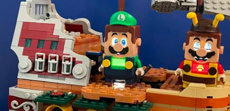 Luigi e Bowser chegam a Lego Super Mario World com nova expansão