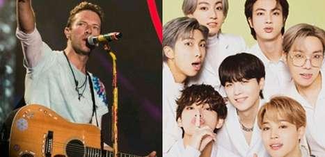 """Líder do Coldplay, Chris Martin exalta BTS como """"o maior ato do mundo"""""""