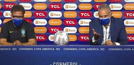 """Tite explica Neymar fora e diz que preservou """"pendurados"""""""