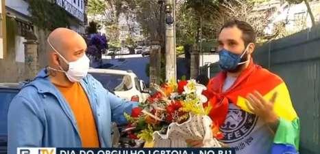 Repórter recebe surpresa do marido ao vivo no Dia do Orgulho LGBTQIA+