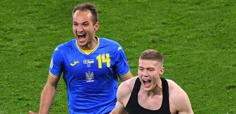Com gol no fim da prorrogação, Ucrânia vence Suécia e avança