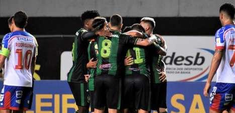 Em jogo de sete gols, América-MG vence o Bahia e sai da zona do rebaixamento