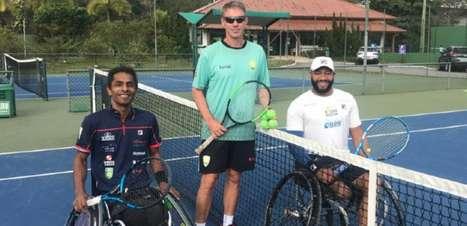 Ymanitu Silva e Daniel Rodrigues treinam juntos para Paralimpíadas em Itajaí (SC)