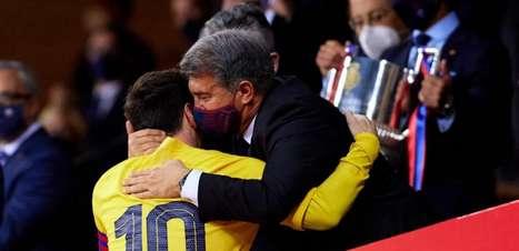 Presidente do Barcelona se reúne com mandatário da La Liga em busca de solução para o contrato de Messi