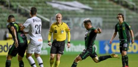 Veja os gols da vitória do América-MG sobre o Santos pelo Brasileiro