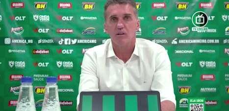 """AMÉRICA-MG: Mancini analisa derrota e vê 'grande jogo' contra o Atlético-MG : """"time mostrou que quer e pode mais coisas no campeonato"""""""