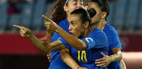 Brasil empata no futebol feminino e vence em vários esportes