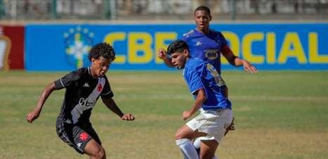 Base do Vasco no Brasileiro: juvenil empata na semifinal com o Cruzeiro e juniores perdem para o Atlético-GO