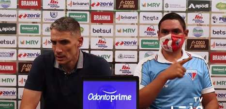 FORTALEZA: Vojvoda analisa vitória sobre o Bragantino, vê equipe forte no primeiro tempo e reconhece crescimento do adversário na segunda parte