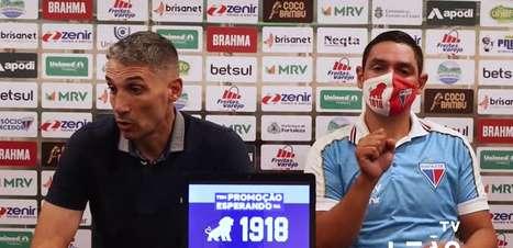 """FORTALEZA: Vojvoda vê dificuldade no confronto contra o Bragantino mas valoriza resultado positivo: """"Construímos uma vitória muito trabalhada"""""""