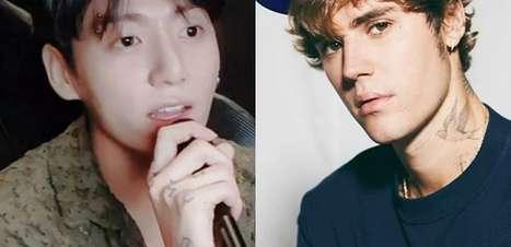 Jungkook, do BTS, faz covers inéditos de Justin Bieber em live