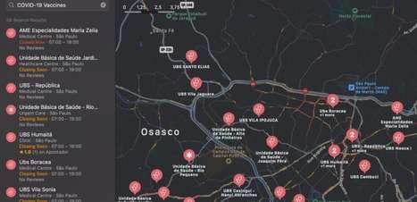 iPhone agora exibe locais de vacinação contra COVID-19 no Apple Mapas