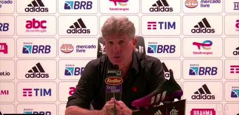 """FLAMENGO: """"Eu quero chegar no topo de todas as competições"""", ressalta Renato Gaúcho após goleada na Copa do Brasil"""