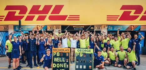 """Russell chora com pontos da Williams e Latifi celebra resultado """"de muito trabalho"""""""