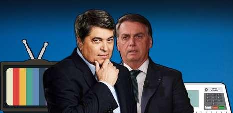 Com 10%, Datena ataca Bolsonaro em clima de campanha na TV