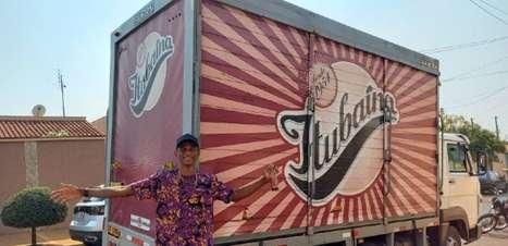 Após promessa, Alison dos Santos ganha caminhão de tubaína