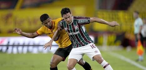 Flu empata no final, mas é eliminado da Libertadores