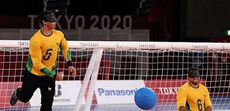 Brasil goleia o Japão no goalball nos Jogos Paralímpicos de Tóquio
