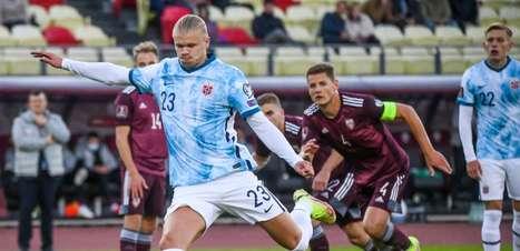 Haaland marca mais uma vez e Noruega vence a Letônia