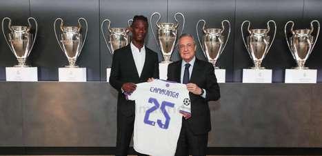 Camavinga é apresentado oficialmente pelo Real Madrid