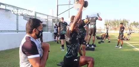 CEARÁ: Clube treina forte para o duelo contra o Santos no fim de semana