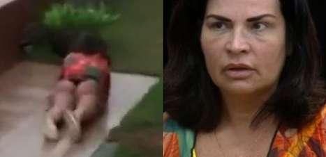 """Solange Gomes leva tombo e 'mergulha' no chão em """"A Fazenda 13""""; veja o vídeo!"""
