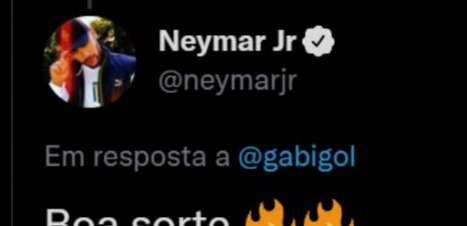 FLAMENGO: Que resenha! Gabigol convida Neymar para jogar no clube e agita torcedores nas redes sociais