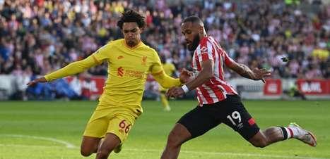 Em jogo animado e com seis gols, Brentford e Liverpool empatam pela Premier League