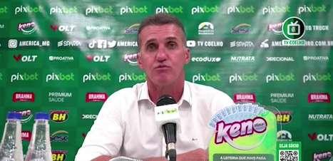 """AMÉRICA-MG: """"Enfrentamos nossa pior sequência no campeonato"""", destaca Mancini sobre três ultimas partidas no Brasileiro"""