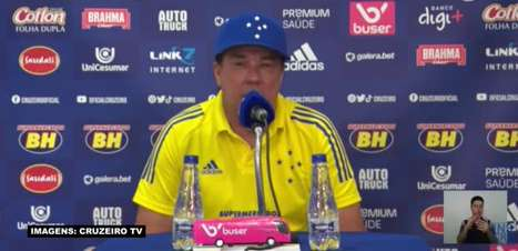 "CRUZEIRO: Luxemburgo analisa derrota para o CSA: ""Foi um jogo de dois tempos distintos"""