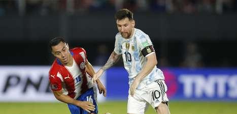 Argentina pressiona, mas fica no 0 a 0 com o Paraguai