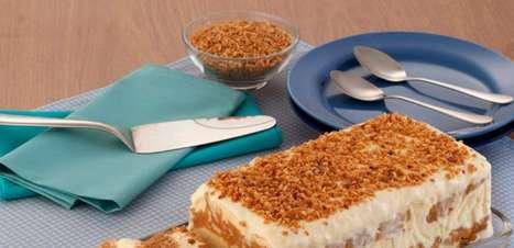 Pavê de amendoim com doce de leite cremoso