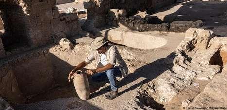 Descoberto em Israel complexo vinícola de 1.500 anos